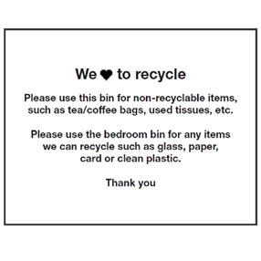 Recycling Label 8 Per Sheet