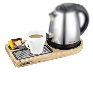 Corby Corby Compact Welcome Tray (without Kettle) Oak