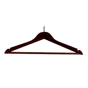 Wooden Security Hanger Dark Wood