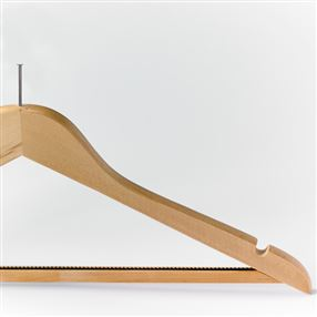 Non-Slip Wooden Security Coat Hanger - Light Wood, Dark Wood