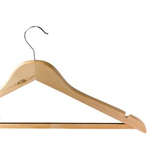Non-Slip Wooden Hook Coat Hanger - Light Wood, Dark Wood