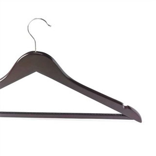 Out of Eden Luxury Wood Coat Hanger With Hook in Light or Dark Wood