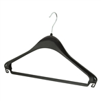 Black Plastic Coat Hanger With Hook