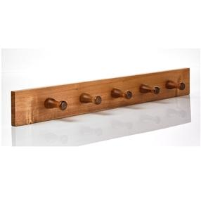 Wooden Peg Rail 5 Pegs