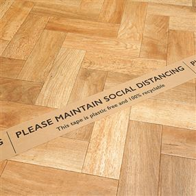 Recyclable Social Distancing Floor Tape