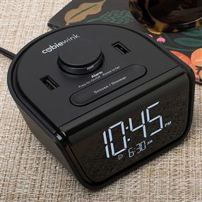 Cubie Wink Hotel Alarm Clock & Charger