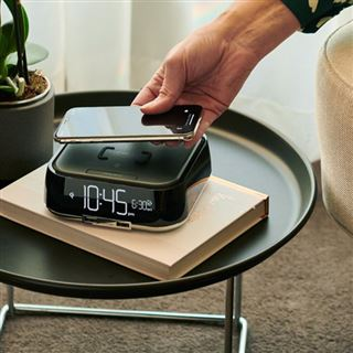 Cubie Duo Hotel Alarm Clock & Wireless Charger