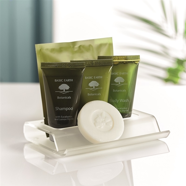 Cut out toiletries presenter bathroom toiletries tray for Bathroom tray for toiletries