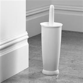 Addis Plastic Closed Toilet Brush Set in White