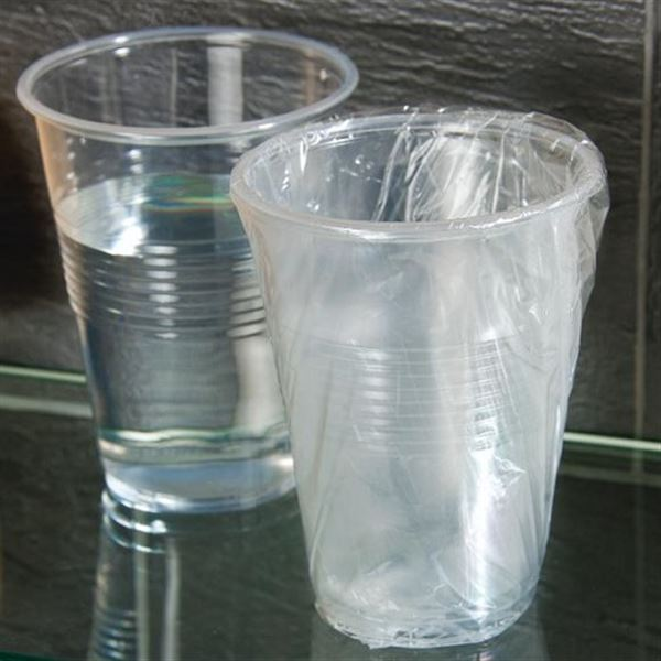 Disposable Plastic Cups - Crystal Look Acrylic Tumblers