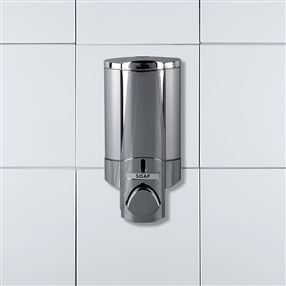 Aviva Chrome Opaque Satin Dispenser, Lockable Single