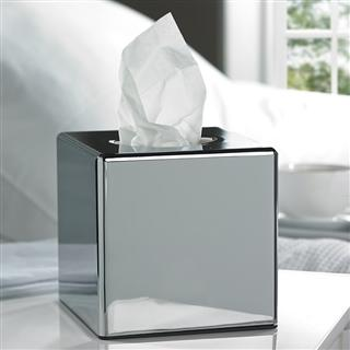 Cube Chrome Tissue Holder