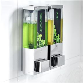 Iqon Dispenser Chrome Transparent Double