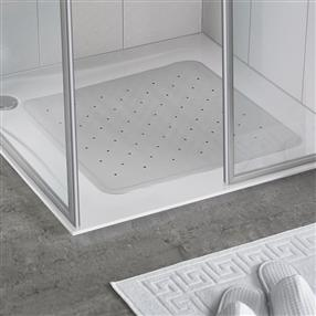 White Rubber Shower Mat