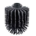 Spare Silicone Toilet Brush Head Black