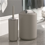 Brasil Bin & Toilet Brush Set Taupe