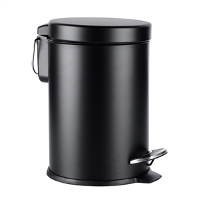 3 Litre Soft Close Pedal Bin Black