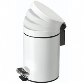 3 Litre Soft Close Pedal Bin White