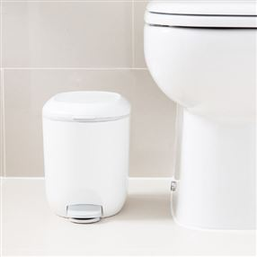 Addis Addis Bathroom Pedal Bin - White