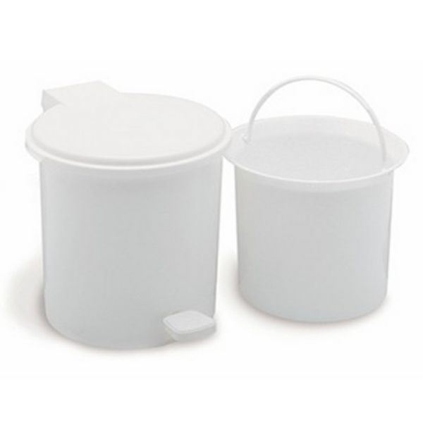 White Bathroom Bin bathroom bin with lid - the 5 litre slide bin is your perfect