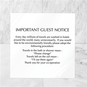 Towel Conservation Notice Pack of 3