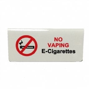 No Vaping E-Cigarettes Tent Sign