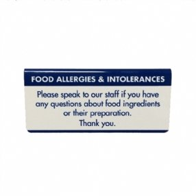 Food Allergen Tent Sign