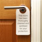 """This Room Has Been Sanitised"" Door Hanger"