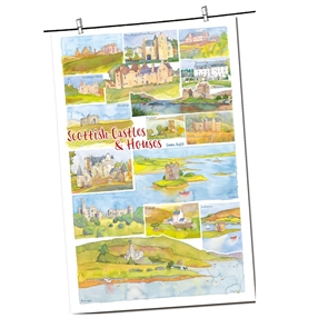 Tea Towel Emma Ball Regional Design / Scottish Castles