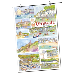 Tea Towel Emma Ball Regional Design / Cornwall