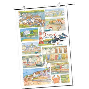 Tea Towel Emma Ball Regional Design / Devon