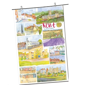 Tea Towel Emma Ball Regional Design / Kent