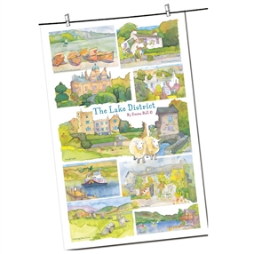 Tea Towel Emma Ball Regional Design / Lake District
