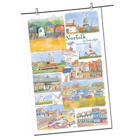 Tea Towel Emma Ball Regional Design / Norfolk