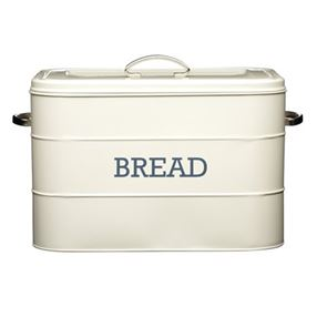 Nostalgia Antique Cream Bread Bin
