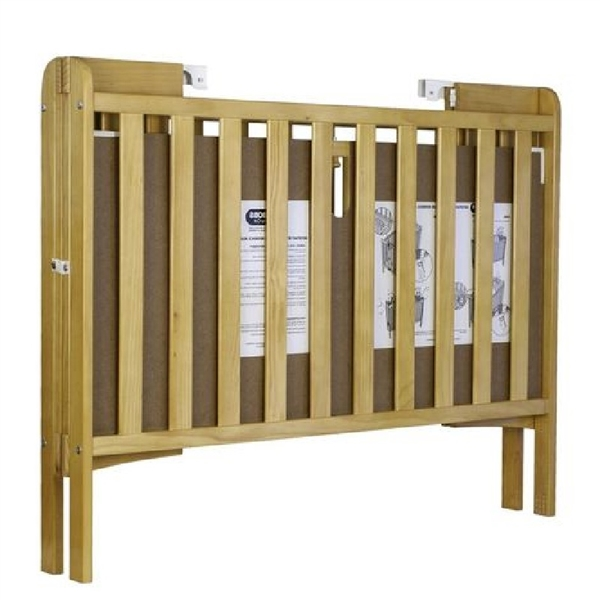Holibobs Wooden Folding Cot With Mattress - Out of Eden