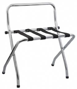 Tubular Metal Luggage Stands Chrome