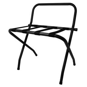 Corby Ashton Metal Luggage Stand Black