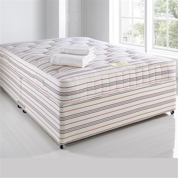 Swaledale pocket sprung mattress and divan base for Pocket sprung divan
