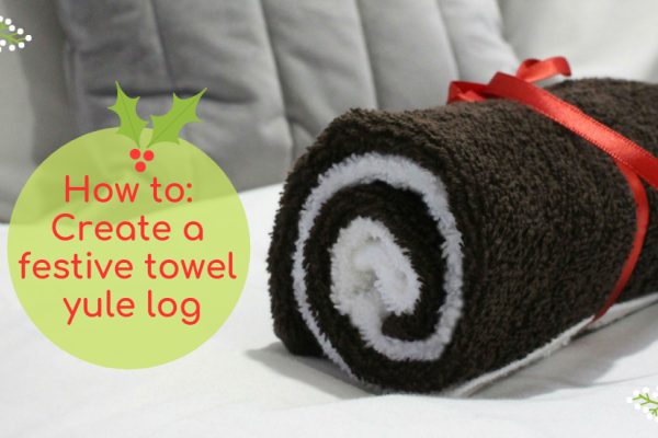 How to create a festive towel yule log